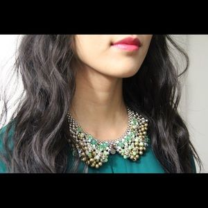 Anthropologie sparked agate collar necklace